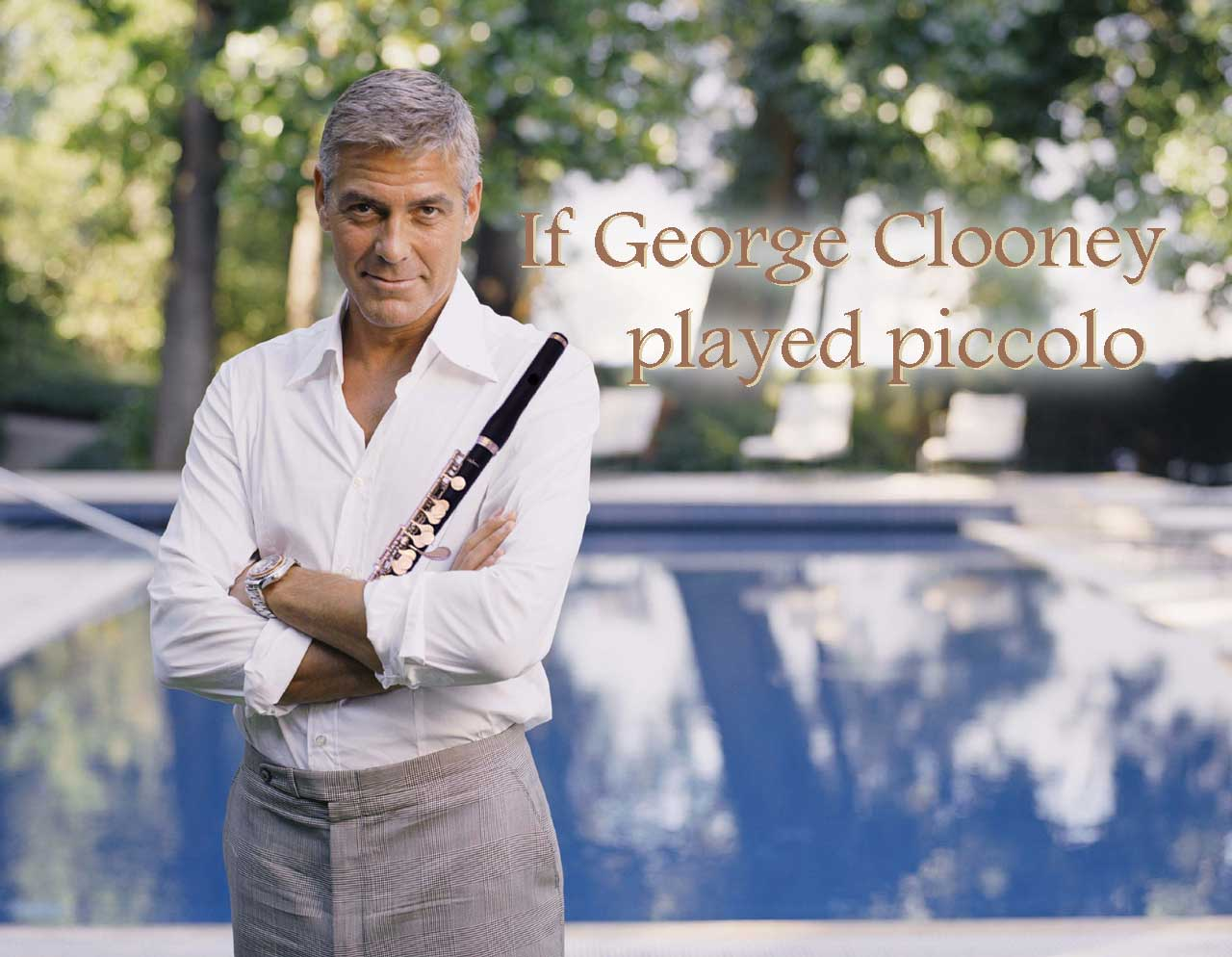 George Clooney plays Bulgheroni Piccolo