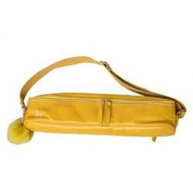 FluterScooter - Yellow leather flute bag