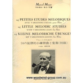 24 Little Melodic Studies With Variations (Easy) Flute Moyse