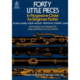 40 Little Pieces For Beginner Flute. Arr Moyse. (Allans)