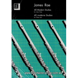 40 Modern Studies For Solo Flute -James Rae (Universal)