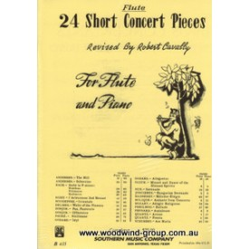 24 Short Concert Pieces. Ed Cavally (Southern) Fl/Pno.