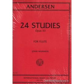 Andersen, J. 24 Short Studies Op.33 (IMC) Fl