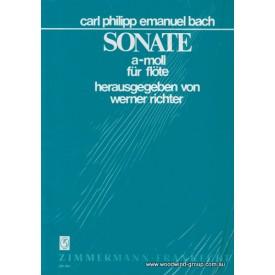 Bach C.P.E.  Sonata In A Minor (Zimmermann) Fl/Pno