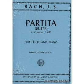Bach J.S. Partita Suite C Minor (IMC) BWV 997 Fl/Pno