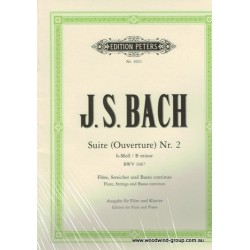 Bach J.S. Suite in B Minor BMV 1067 (Peters) Fl/Pno