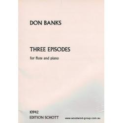 Banks, D - Three Episodes (Schott) Fl/Pno