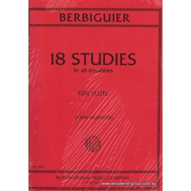 Berbiguier - 18 Studies In All Tonalities (Ed. Wummer)  (IMC)