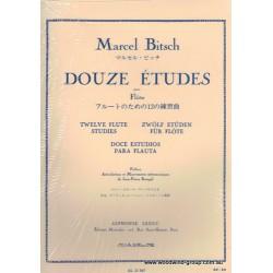 Bitsch, M - 12 Studies For Flute Unaccompanied (Leduc)