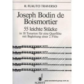 Boismortier 55 Easy Pieces Op 22 Solo Flute (Schott)