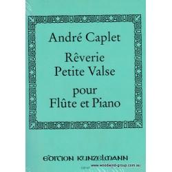 Caplet. Reverie et Petite Valse. Fl/Pno (Kunzelmann)