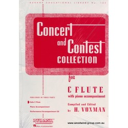 Concert & Contest Collection. Arr Voxman (Rubank) Flute Part Only