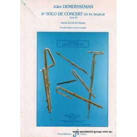 Demerssemann J. Sixieme Solo De Concert Op 82 Fl/Pno (Billaudot)
