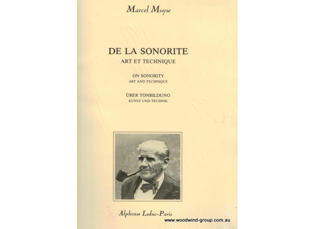 Marcel moyse de la sonorite
