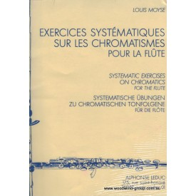 Moyse Systematic Exercises On Chromatics For Flute (Leduc)