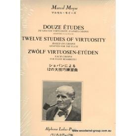 Moyse Twelve Studies Of Virtuosity Based On Chopin For Flute