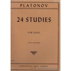 Platonov 24 Studies For Flute (IMC)
