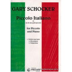 Schocker Piccolo Italiano For Piccolo/Pno