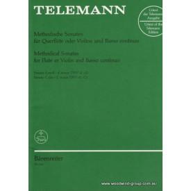 Telemann Methodical Sonatas (Dmin/Cmaj) (Barenreiter)