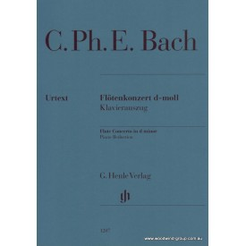 Bach C.P.E. Concerto in D minor (Fl/Pno) Henle