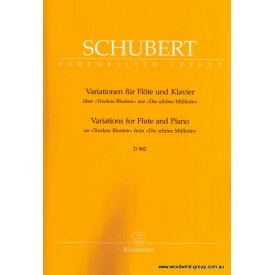 "Schubert F. Introduction & Variations On The Theme ""Ihr Blumen Alle"" Op 160 (Barenreiter URTEXT)"